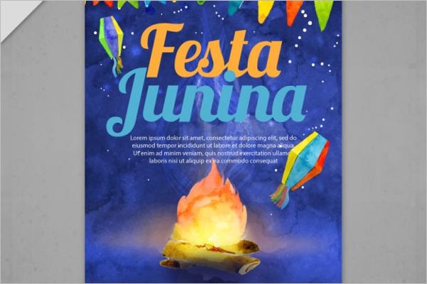 Fire Summer Camp Flyer Design