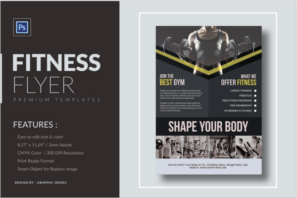 Fitness Advertising Flyer