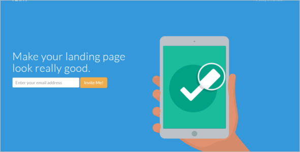 Flat HTML5 Landing Page Template