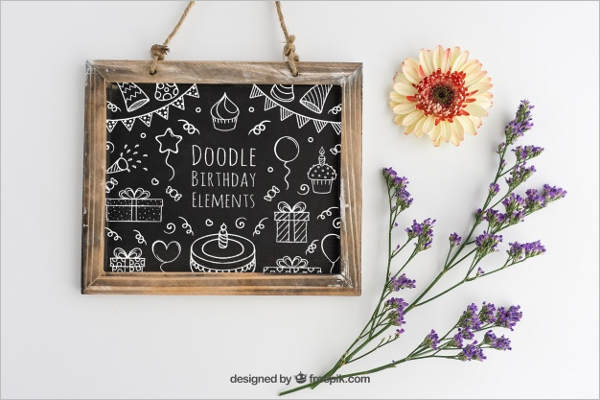 Floral Birthday Poster Design
