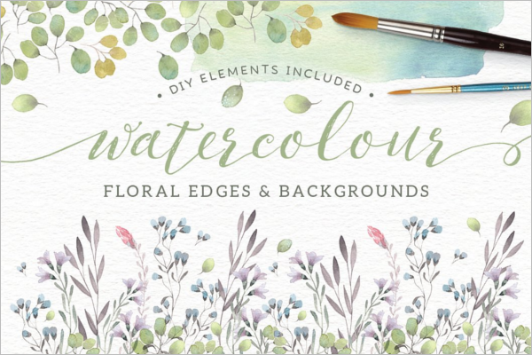 Floral Element Brush Design