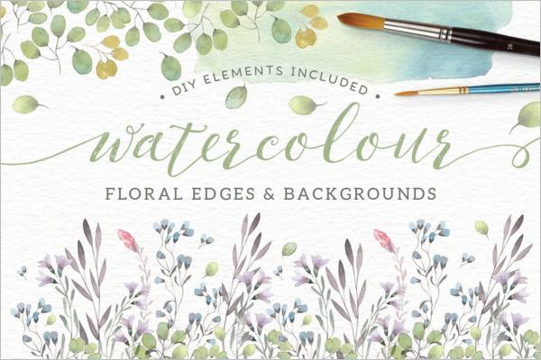 Floral Element Brush Design