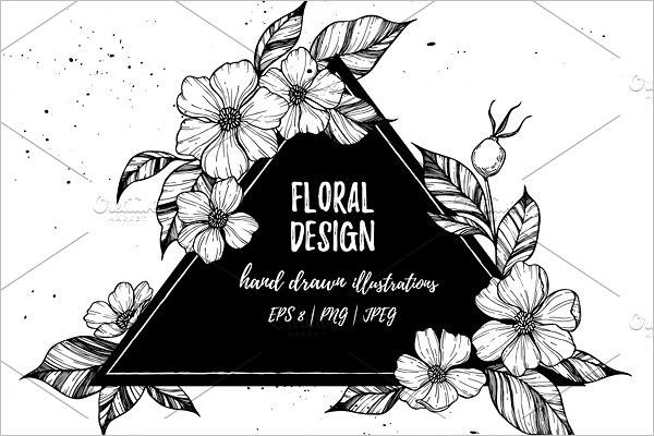 Floral Element Design Png