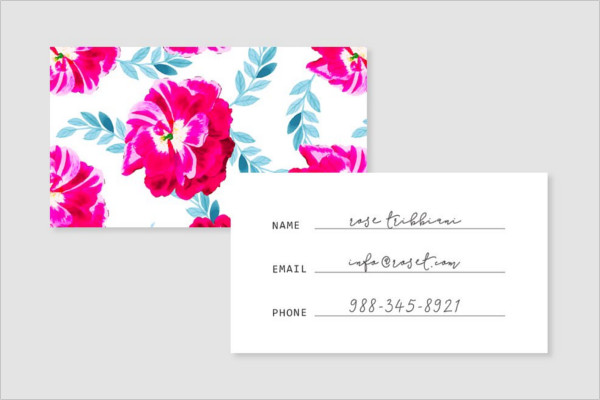 Floral Pattern Business Card Template
