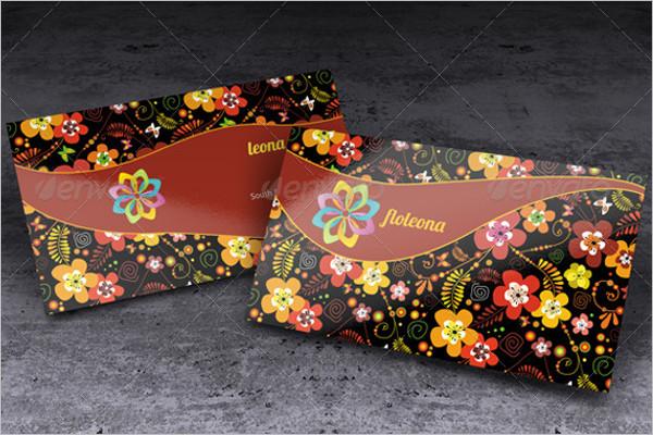 Floral Shop Business Card design