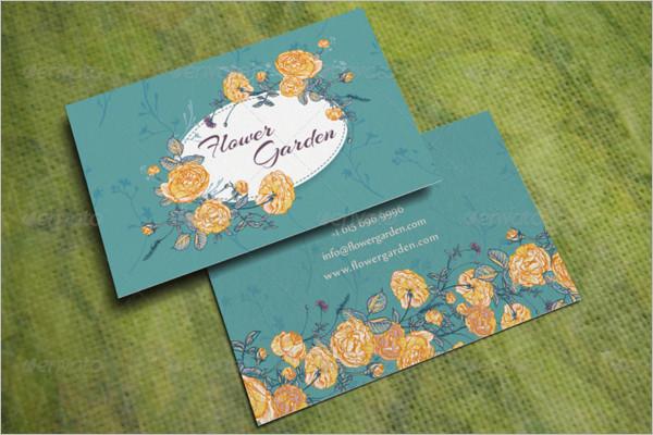 Flower Garden Business Card Design