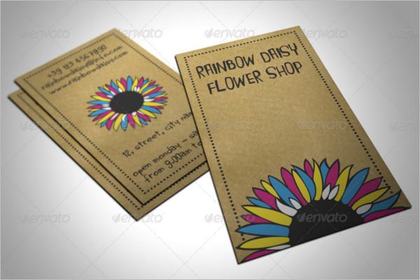 Flower Shop Business Card Vector