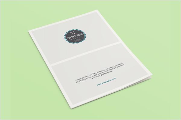 Folded Page Brochure Psd Design