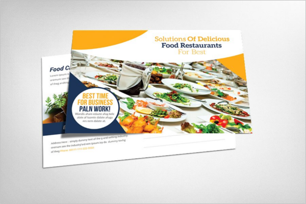 Food Catering Postcard Design