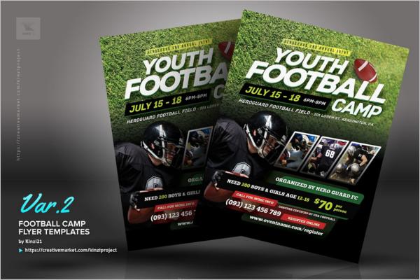Football Camp Flyer Templates