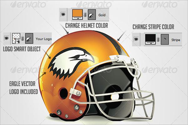 Football Helmet Flyer Design