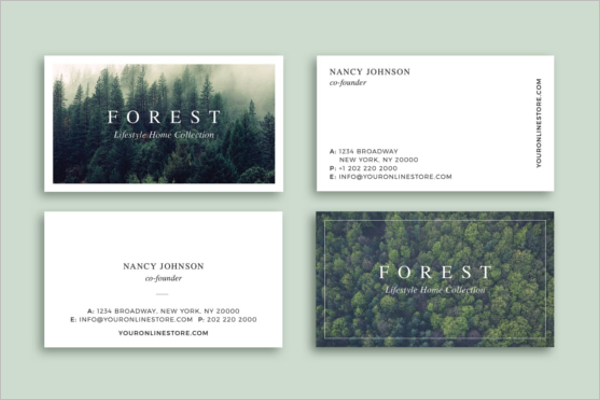 Forest Business Card Design