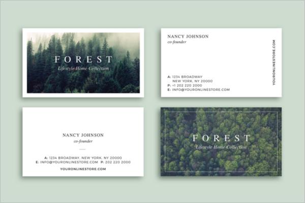 Forest Business Card Design
