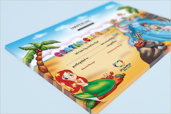 Format Certificate For Kids