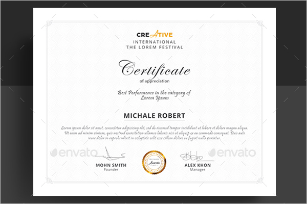 Frame Training Certificate Template