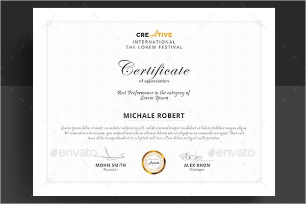 Frame Training Certificate Template
