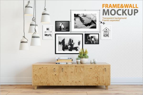 Frame & Wall Logo Mockup