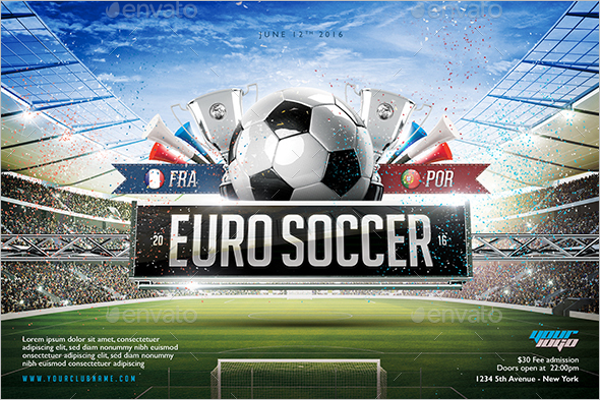 France Soccer Flyer Design