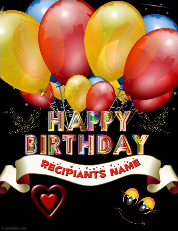 Free Birthday Poster Design Idea