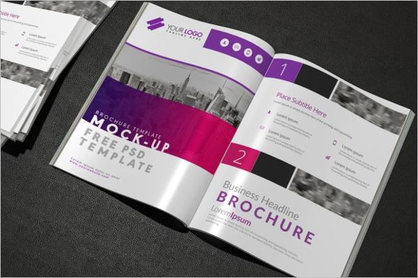 Free Brochure PSD Mockup Design