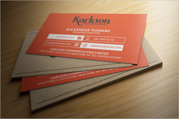 Free Business Card Graphic Template