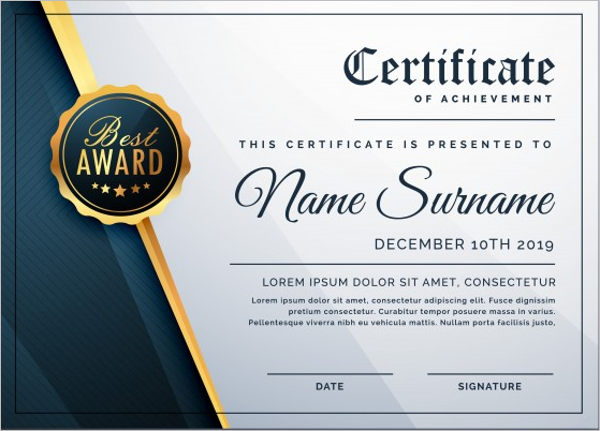 Business Certificate Templates Free Amp Premium Download