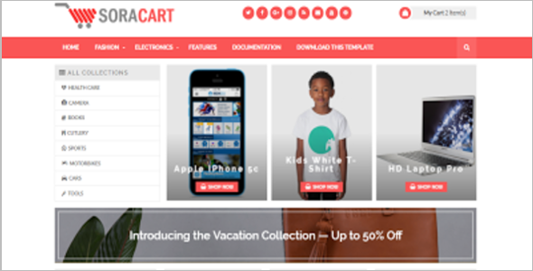 Free Cart Blog Template