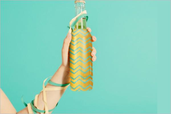 Free Celebration Bottle Mockup