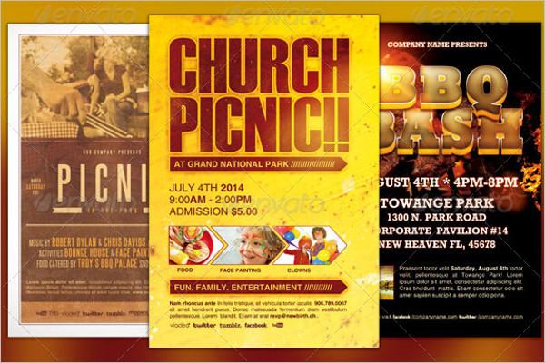 Free Church Event Flyer PSD