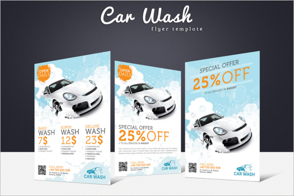 Free Creative Car Wash Flyer