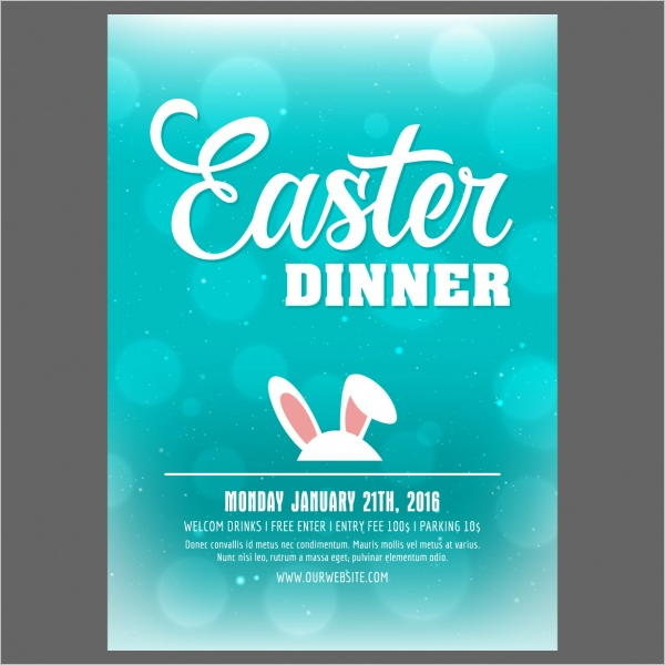Free Easter Poster Template