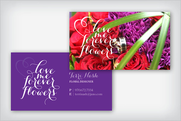 Free Floral Shop Business Card Design