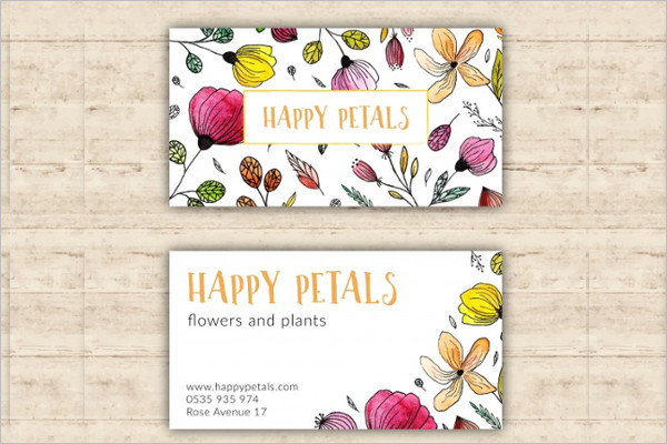 Flower shop business card templates free premium free flower shop visiting card design download reheart Image collections