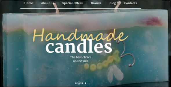 Free Handmade Candles OpenCart Thme