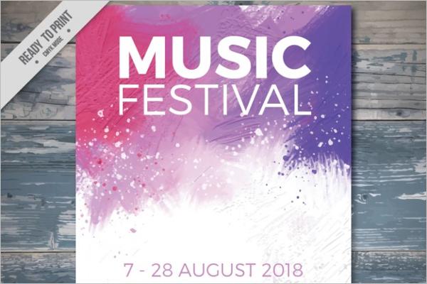 Free Music Festival Poster