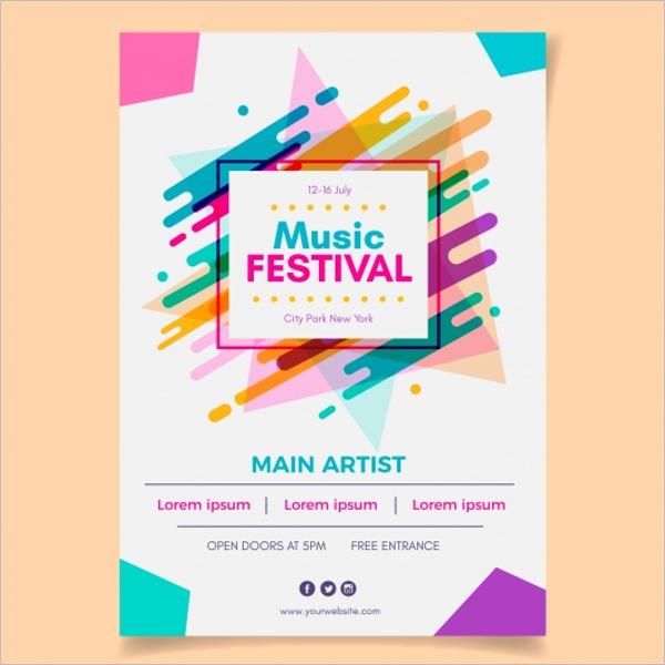 Free PSD Event Poster Design
