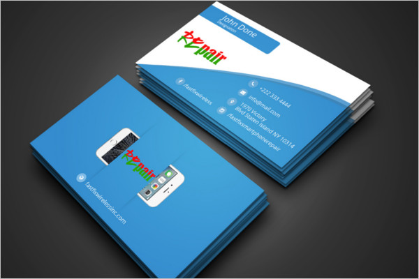 Free Repair Business Card Design
