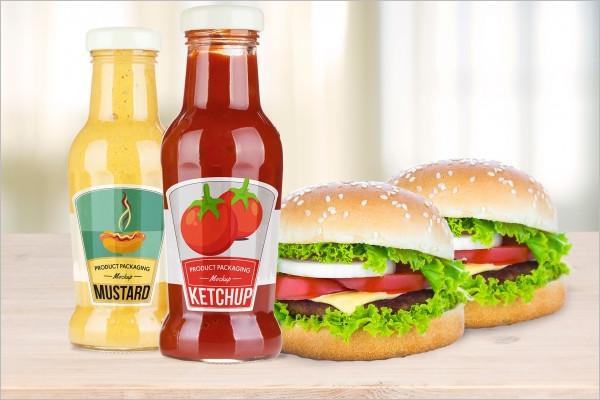 Free Sauce Bottle Mockup