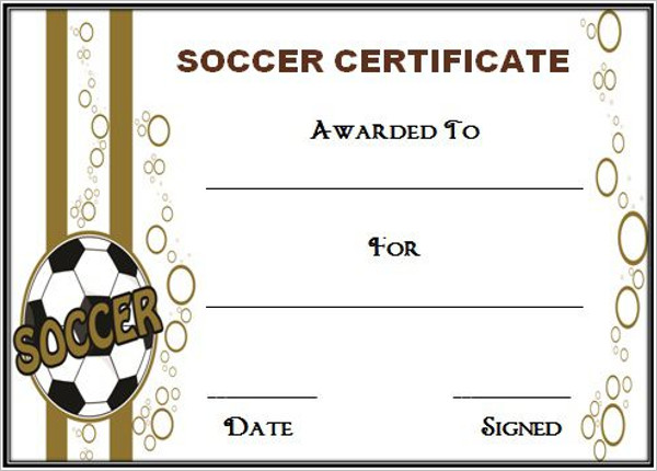 free soccer certificate template