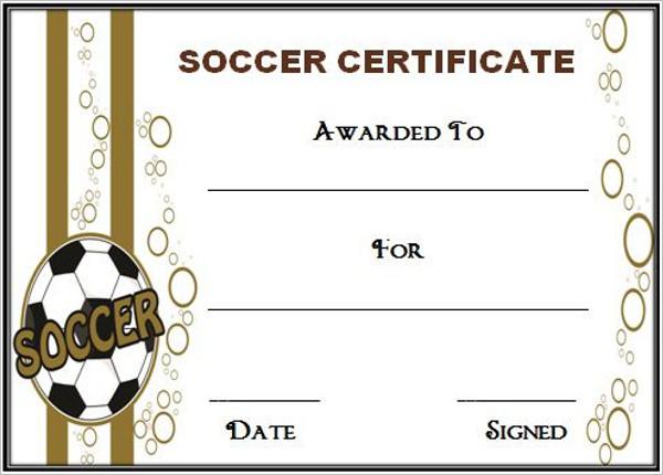 Free Soccer Certificate Template