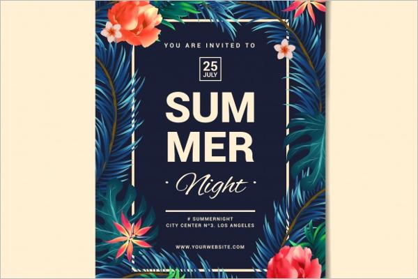 Free Summer Poster Design