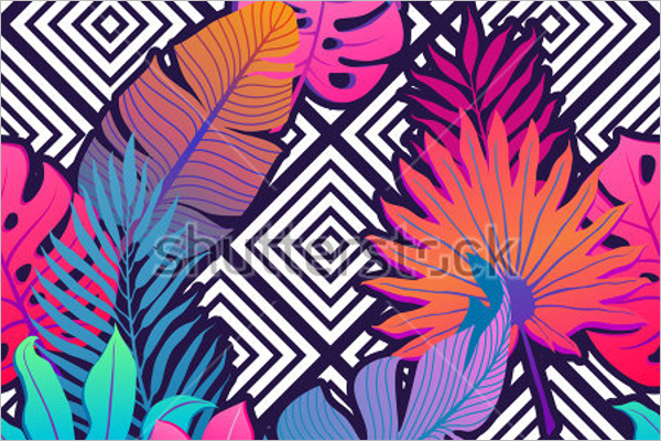 Free Summer Tropical Floral Pattern