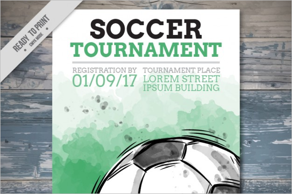 Free Vector Soccer Flyer Template