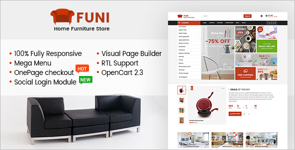 Furniture E-Commerce OpenCart Theme