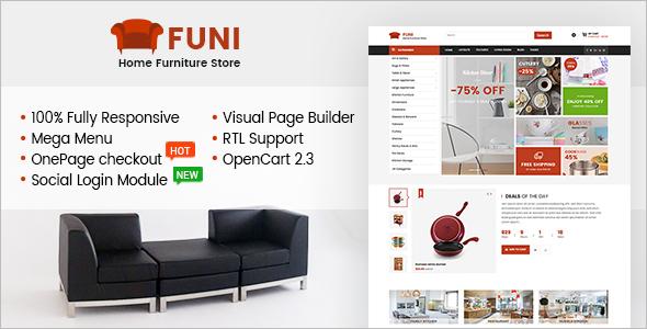 Furniture E-Commerce OpenCart Theme