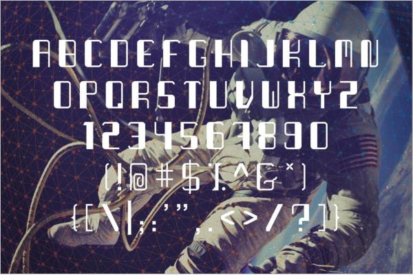 Galaxy Futuristic Decorative Font