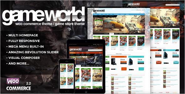 GameWorld WooCommerce Theme