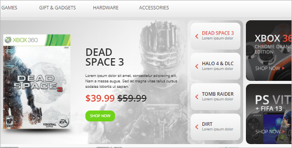 Games Consoles OpenCart Template