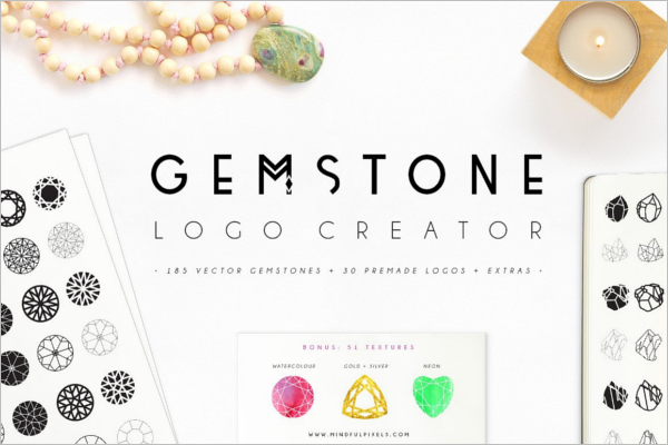 Gemstone Photoshop Logo Psd