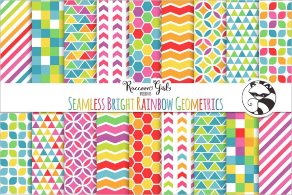 Geometric Bright Pattern Design